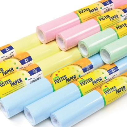 Pastel Poster Paper, 10 Roll Assortment