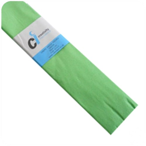 Light Green Crepe Paper 500mm x 3m, 10 Pack