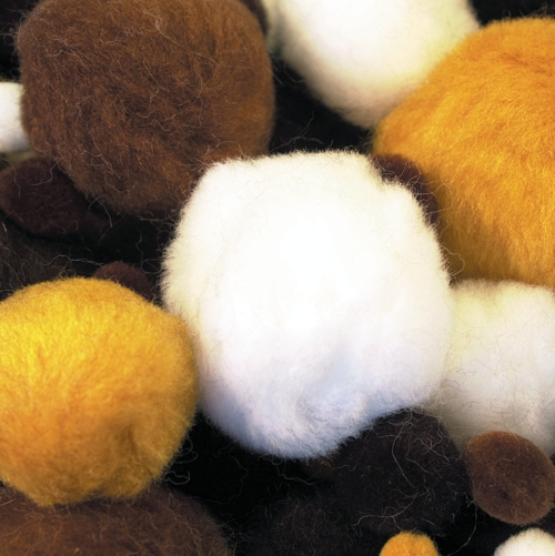 Animal Pom Poms in Assorted Sizes