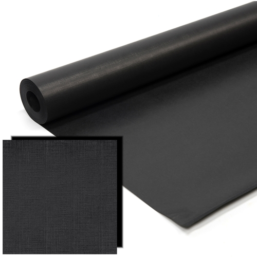 Black Milskin Frieze Display Paper Rolls