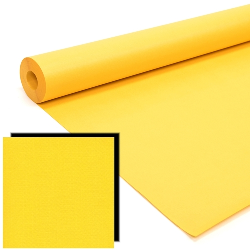 Bright Yellow Milskin Frieze Display Paper Rolls
