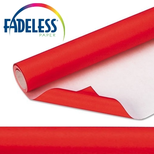Flame Red Fadeless Display Paper 15m Roll