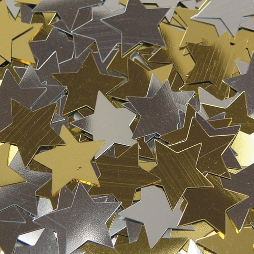 Gold and Silver Star Sequins - 200ml Tub