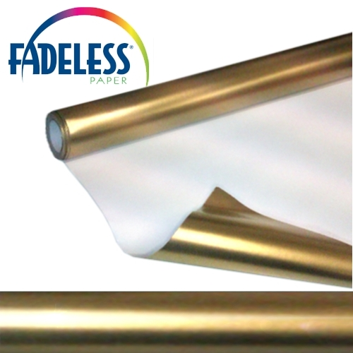 Metallic Gold Fadeless Display Paper 7.5m Roll