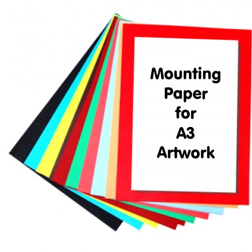 Mounting Paper A3+ Assoerted Colours