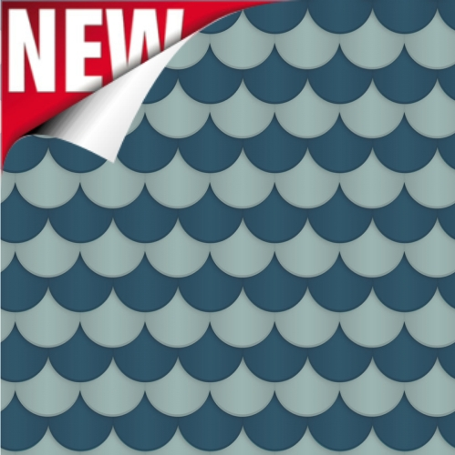 Navy Scallop Printed Design Backdrop Paper