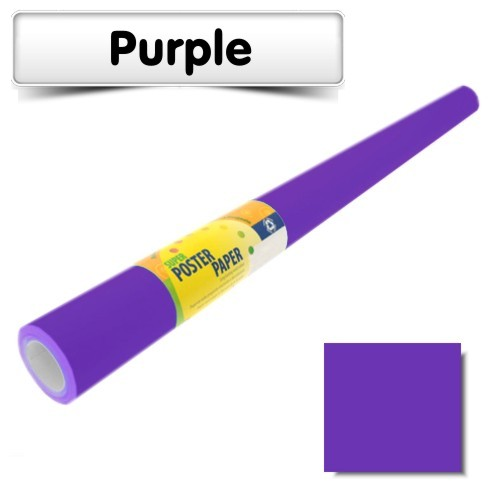 Purple Poster Paper 10m Roll