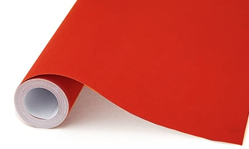 Red Poster Paper 50m Roll