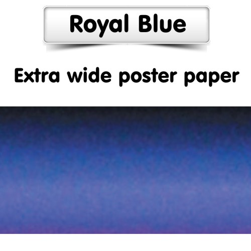 Royal Blue Poster Paper, Extra Wide Roll