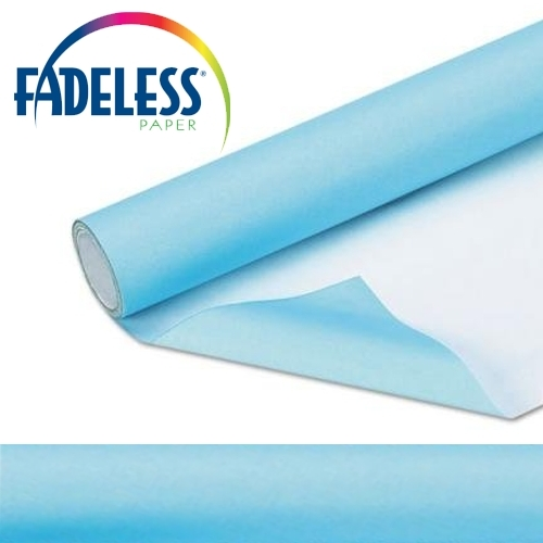 Sky Blue Fadeless Display Paper 15m Roll