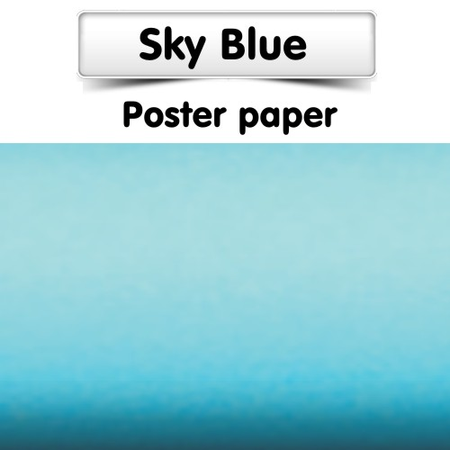 Sky Blue Poster Paper 25m Roll