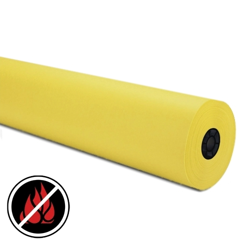 Yellow - Large Roll of Flame Retardant Paper
