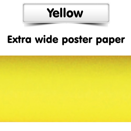 Yellow Poster Paper Extra Wide Roll