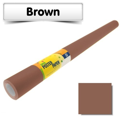 Brown Poster Paper 10m Roll