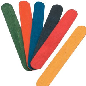 Jumbo Coloured Craft Sticks Pack 100