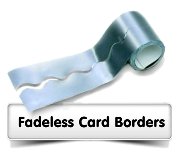 Fadeless Card Borders Scalloped