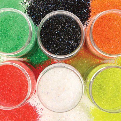 Fluorescent Glitter Assortment 6 x 125g