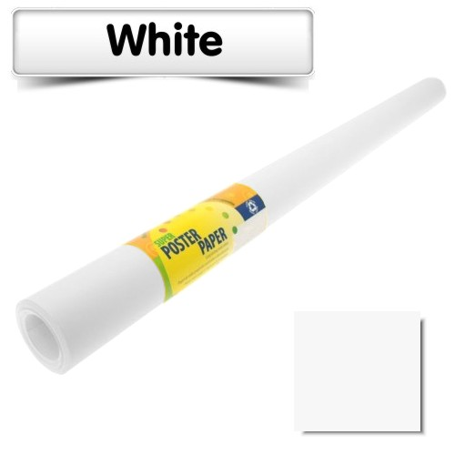 White Poster Paper 10m Roll