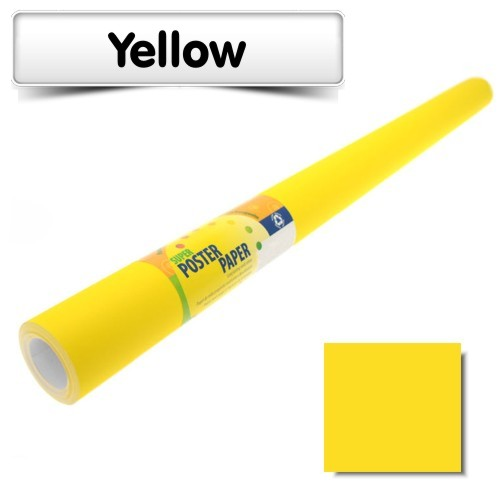 Yellow Poster Paper 10m Roll