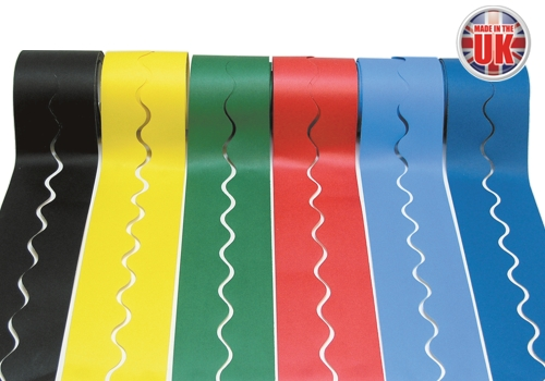 6 Rolls of Fadeless Card Borders in Assorted Colours