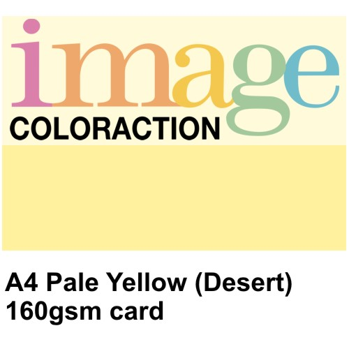 A4 Pale Yellow (Desert) Coloured Card, 160gsm