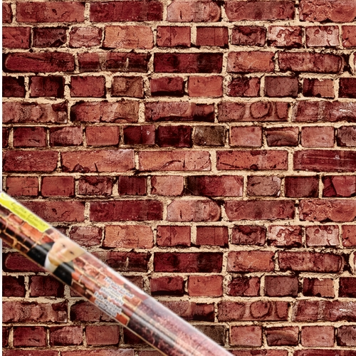 Aged Red Brick Printed Design Backdrop Paper