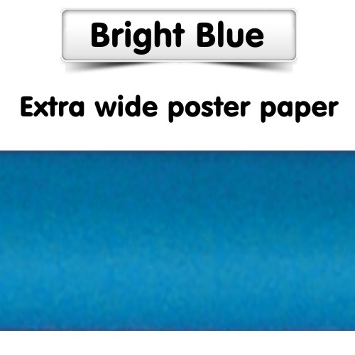 Bright Blue Poster Paper, Extra Wide Roll