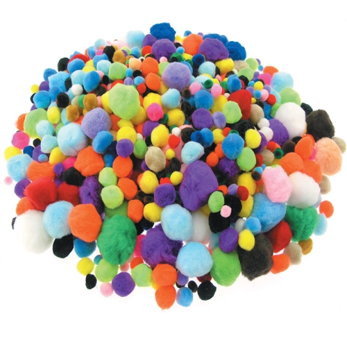 Bumper Pack of Pom Poms, 456g Bag