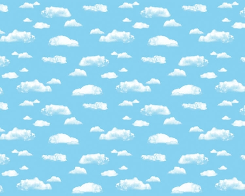 Clouds Fadeless Design Display Paper, 3.6m