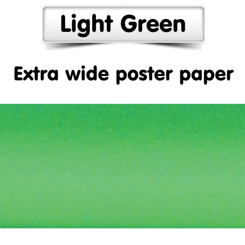 Light Green Poster Paper, Extra Wide Roll