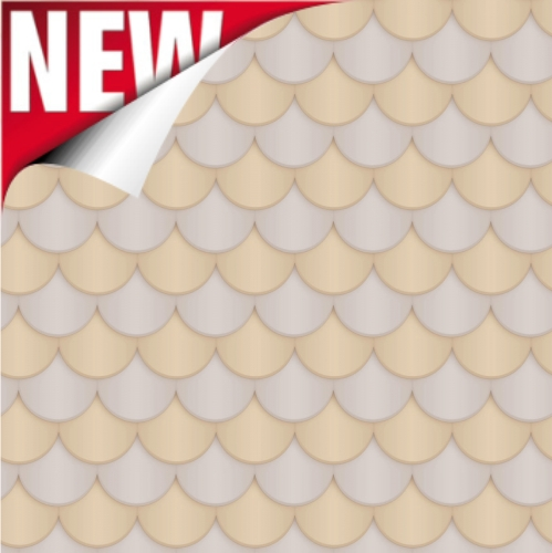 Neutral Scallop Printed Design Backdrop Paper