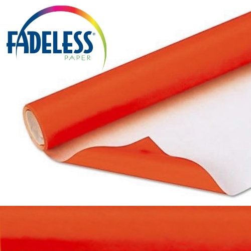 Orange Fadeless Display Paper 15m Roll