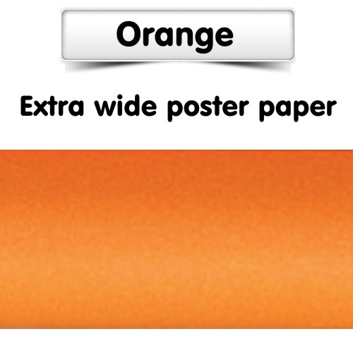 Orange Poster Paper, Extra Wide Roll