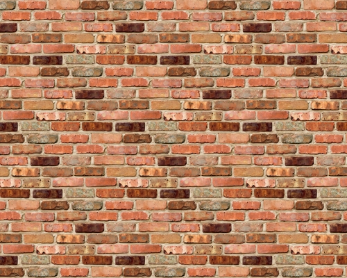 Reclaimed Brick Design Fadeless Display Paper, 15m
