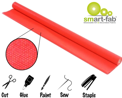 Red Smart-Fab Creative Display Fabric