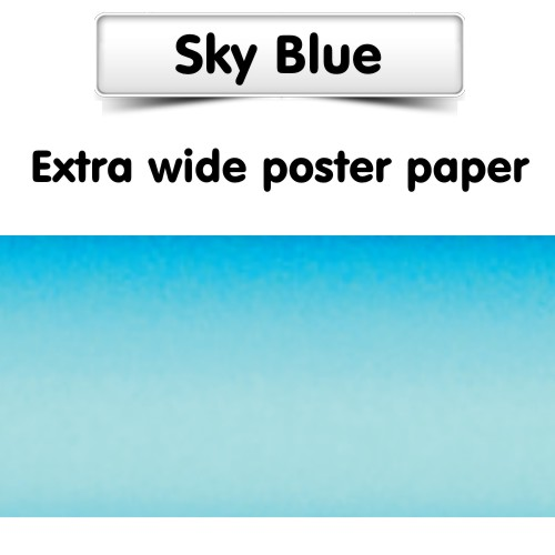 Sky Blue Poster Paper, Extra Wide Roll