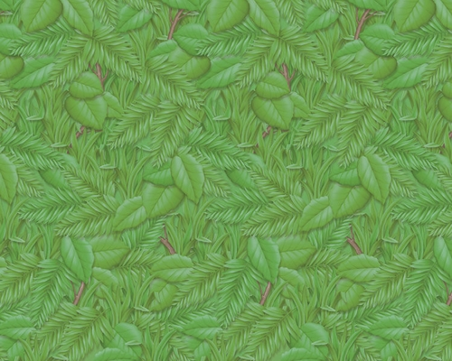 Tropical Foliage Design Fadeless Display Paper, 15m