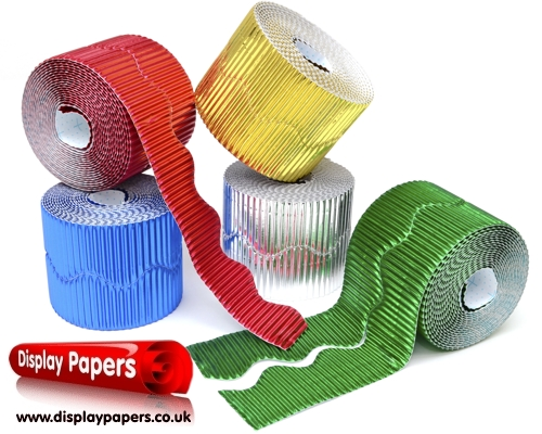 Metallic Corrugated Border Rolls Assortment