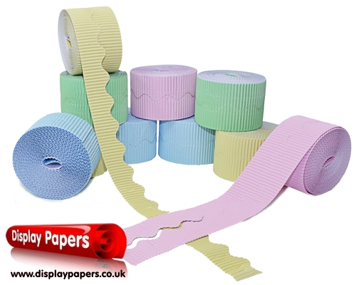 Pastel Corrugated Border Rolls Assortment