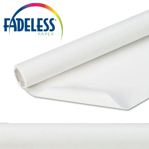 White Fadeless Display Paper 15m Roll