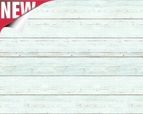 White Shiplap Design Fadeless Display Paper, 3.6m