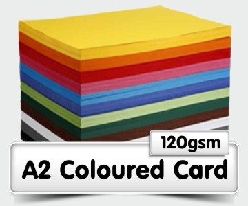 A2 Coloured Card - 120gsm