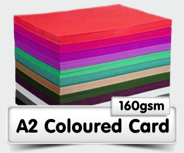 A2 Coloured Card - 160gsm
