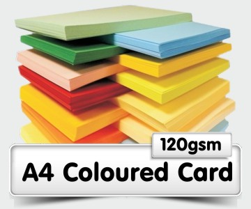 A4 Coloured Card - 120gsm