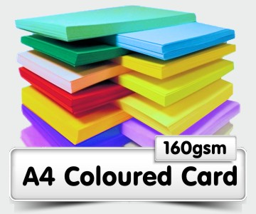 A4 Coloured Card - 160gsm