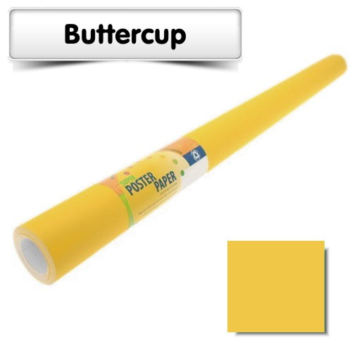 Buttercup Poster Paper 10m Roll
