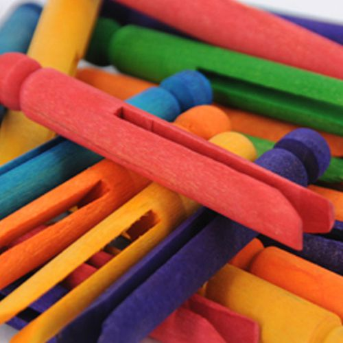 Coloured Craft Pegs Pack 50