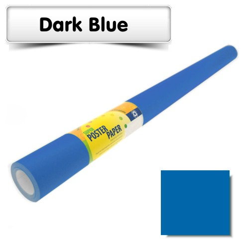 Dark Blue Poster Paper 10m Roll