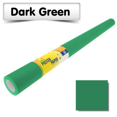 Dark Green Poster Paper 10m Roll