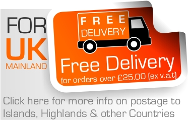 Free Delivery when you spend over £25 online UK Mainland only Nett of VAT